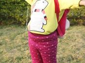 Toddler OOTD Yellow Bunny Sweatshirt Cherry Crumble