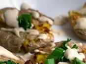 Smashed Potatoes with Vegan Garlic Aioli