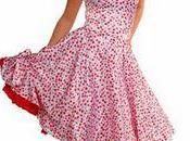Cherry Satin Swishy Rockabilly Dress