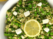 Spring Orzo Salad with Asparagus Peas
