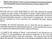 Mueller Criticizes Barr's Attempt Whitewash Report