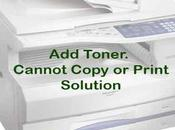 Toner Cannot Copy Print Error Solved