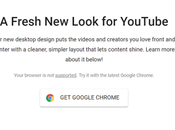 """Chromium Edge Showing """"Your Browser Supported"""" Message YouTube Look Quick"""