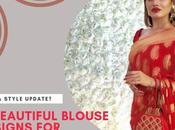 Beautiful Blouse Designs Banarasi Saree