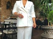 White Double Breasted Pantsuit from Zara