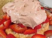 Heavenly? Strawberry Shortcake with Whipped Chocolate Topping