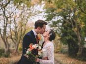 Romantic Autumnal Wedding with Fairy Lights Rachel Andrew