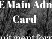 Main Admit Card 2020 Check Here Download Card, Important Dates