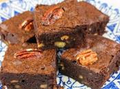 Bourbon Fudge Brownies with Spiced Pecans #Choctoberfest