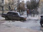 Viral Video: Russian Taxi Driver Escapes Massive Pothole, Falls Back
