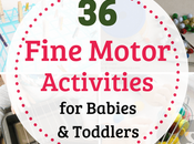 Fine Motor Activities Babies Toddlers (From Years)