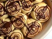 Churro Cinnamon Rolls with Chocolate Drizzle