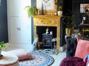 Dramatic Black Living Room Transformation with Gold Fireplace Creative DIY's