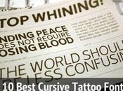 Best Cursive Tattoo Fonts Free Download