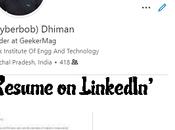 Resume Linkedin Profile 2020