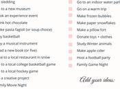 Post-Holiday Winter Bucket List
