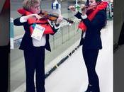 Violinists Serenade Empty Toilet Roll Aisle Angeles Store