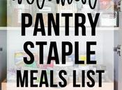 Ultimate Pantry Staple Meals List