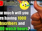 Much Will Earn Have 1000 Subscribers 4000 Watch Hours YouTube?