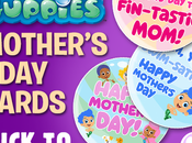 Free Printable Bubble Guppies Mother's Cards from Nickelodeon!