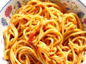 Indian Style Tomato Spaghetti Noodles Pasta Sauce Meal Idea