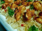 Yoghurt Spiced Chicken with Almond Coriander Rice