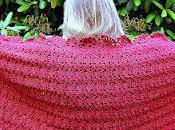 Handmade Crocheted Shawl/Wrap Deep Color