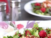 Warm Goat Cheese Raspberry Salad