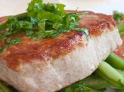 Grilled Tuna with Green Bean Salad
