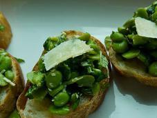 Broad Bean Mint Bruschetta