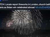 Church Bells Ringing Throughout World, Horns Honking, Fireworks People Dancing Streets: Celebration Trump Presidency