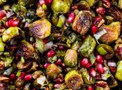 Roasted Brussels Sprouts with Pomegranate Pecans