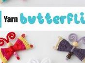 Butterfly Craft with Yarn Pipe Cleaners