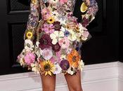 Grammy Winner Walks Ramp with Floral Garment
