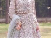 Pakistani Bridal Wear Peach Ruffled Maxi Back Train Style Dupatta