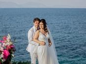 Romantic Summer Wedding Kefalonia with Bougainvillea