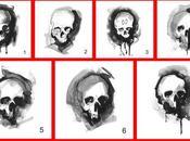 Ink-Wash Skull Designs Tote Bags