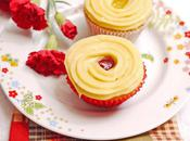 Lemon Cupcakes with Pastry Cream Raspberry Curd