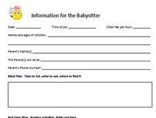 Instructions Babysitter