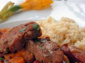 Mediterranean Pork Tenderloin Medallions with Apricots, Sweet Potatoes Polish Sausage