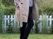 Classic Trench Coat Gold Boots.