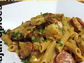 Creamy Penne Pasta with Andouille Sausage Shrimp Cajun Spices