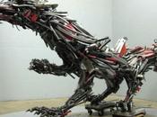 Scrap Metal Animal Sculptures Robert Jefferson Travis Pond