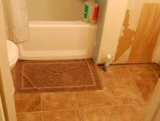 Kitchen Bathroom Floors!