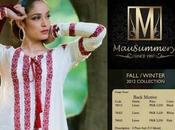 Mausummery Latest Fall Winter Embroidered Cambric Linen Collection 2012-2013