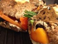 Stuffed Portobello Mushroom Cruset Panini Grill