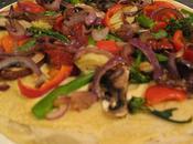 Hummus Tortilla Pizza