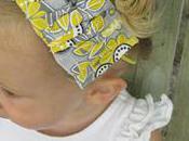Ruffled Headband Sweet Peas Bumblebees