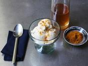 Vanilla Cream with Ginger Syrup Curry Powder