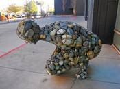 Steel Frame, Rocked Filled Human Sculpture